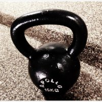 WOD: Run, KB Swing, Push-Ups
